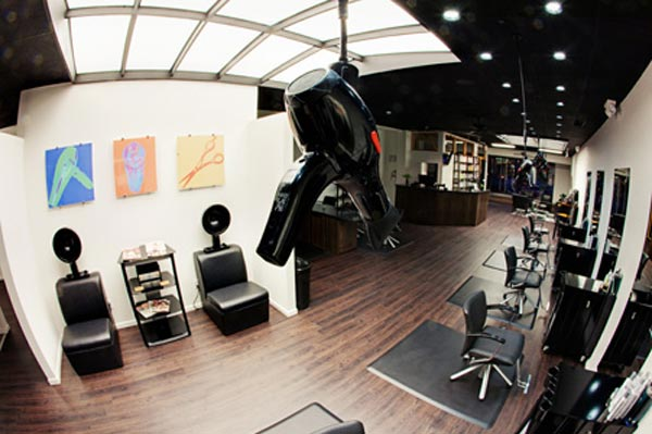 arial view of the salon